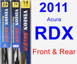 Front & Rear Wiper Blade Pack for 2011 Acura RDX - Vision Saver