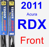 Front Wiper Blade Pack for 2011 Acura RDX - Vision Saver