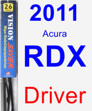 Driver Wiper Blade for 2011 Acura RDX - Vision Saver