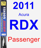 Passenger Wiper Blade for 2011 Acura RDX - Vision Saver