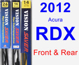 Front & Rear Wiper Blade Pack for 2012 Acura RDX - Vision Saver