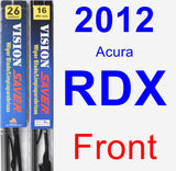 Front Wiper Blade Pack for 2012 Acura RDX - Vision Saver