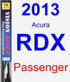 Passenger Wiper Blade for 2013 Acura RDX - Vision Saver