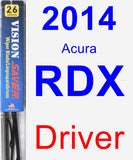 Driver Wiper Blade for 2014 Acura RDX - Vision Saver