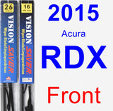 Front Wiper Blade Pack for 2015 Acura RDX - Vision Saver