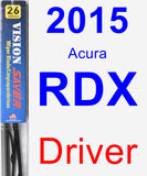 Driver Wiper Blade for 2015 Acura RDX - Vision Saver