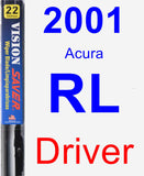 Driver Wiper Blade for 2001 Acura RL - Vision Saver