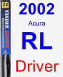 Driver Wiper Blade for 2002 Acura RL - Vision Saver