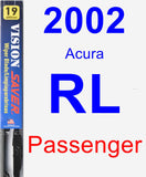 Passenger Wiper Blade for 2002 Acura RL - Vision Saver