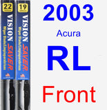 Front Wiper Blade Pack for 2003 Acura RL - Vision Saver