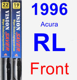 Front Wiper Blade Pack for 1996 Acura RL - Vision Saver