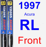 Front Wiper Blade Pack for 1997 Acura RL - Vision Saver