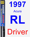 Driver Wiper Blade for 1997 Acura RL - Vision Saver