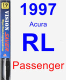 Passenger Wiper Blade for 1997 Acura RL - Vision Saver