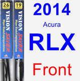 Front Wiper Blade Pack for 2014 Acura RLX - Vision Saver