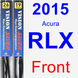 Front Wiper Blade Pack for 2015 Acura RLX - Vision Saver