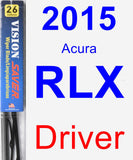 Driver Wiper Blade for 2015 Acura RLX - Vision Saver