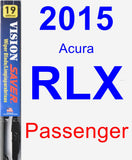 Passenger Wiper Blade for 2015 Acura RLX - Vision Saver