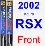 Front Wiper Blade Pack for 2002 Acura RSX - Vision Saver