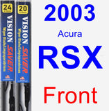 Front Wiper Blade Pack for 2003 Acura RSX - Vision Saver