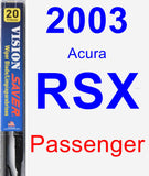 Passenger Wiper Blade for 2003 Acura RSX - Vision Saver