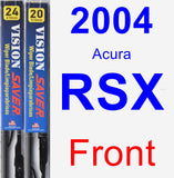 Front Wiper Blade Pack for 2004 Acura RSX - Vision Saver