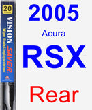Rear Wiper Blade for 2005 Acura RSX - Vision Saver