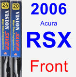 Front Wiper Blade Pack for 2006 Acura RSX - Vision Saver