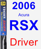 Driver Wiper Blade for 2006 Acura RSX - Vision Saver