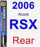 Rear Wiper Blade for 2006 Acura RSX - Vision Saver