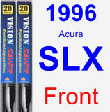 Front Wiper Blade Pack for 1996 Acura SLX - Vision Saver