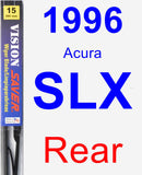 Rear Wiper Blade for 1996 Acura SLX - Vision Saver