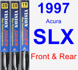 Front & Rear Wiper Blade Pack for 1997 Acura SLX - Vision Saver