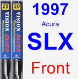 Front Wiper Blade Pack for 1997 Acura SLX - Vision Saver