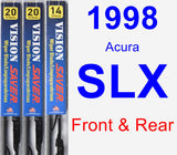 Front & Rear Wiper Blade Pack for 1998 Acura SLX - Vision Saver