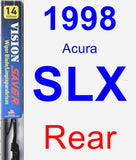 Rear Wiper Blade for 1998 Acura SLX - Vision Saver