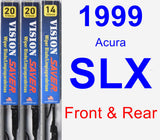 Front & Rear Wiper Blade Pack for 1999 Acura SLX - Vision Saver