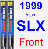 Front Wiper Blade Pack for 1999 Acura SLX - Vision Saver