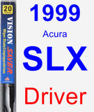 Driver Wiper Blade for 1999 Acura SLX - Vision Saver