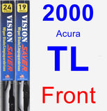 Front Wiper Blade Pack for 2000 Acura TL - Vision Saver