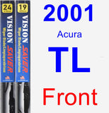 Front Wiper Blade Pack for 2001 Acura TL - Vision Saver