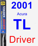 Driver Wiper Blade for 2001 Acura TL - Vision Saver