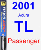 Passenger Wiper Blade for 2001 Acura TL - Vision Saver