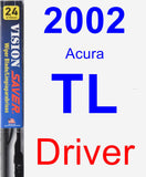 Driver Wiper Blade for 2002 Acura TL - Vision Saver