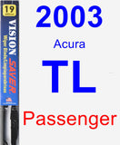 Passenger Wiper Blade for 2003 Acura TL - Vision Saver
