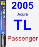 Passenger Wiper Blade for 2005 Acura TL - Vision Saver