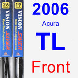 Front Wiper Blade Pack for 2006 Acura TL - Vision Saver