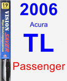 Passenger Wiper Blade for 2006 Acura TL - Vision Saver