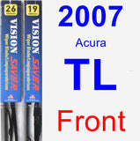 Front Wiper Blade Pack for 2007 Acura TL - Vision Saver
