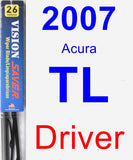 Driver Wiper Blade for 2007 Acura TL - Vision Saver